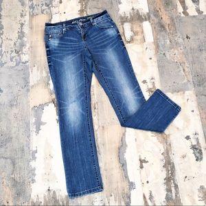 INC Denim Straight Leg Curvy Fit Short Jeans